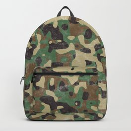 Distressed Army Camo Backpack