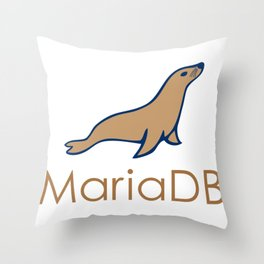 maria db programmer MariaDb developer no sql mongoDb stickers Throw Pillow