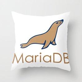 maria db programmer MariaDb developer no sql mongoDb stickers Throw Pillow
