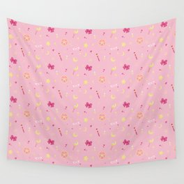 Sailor Moon Pattern Wall Tapestry