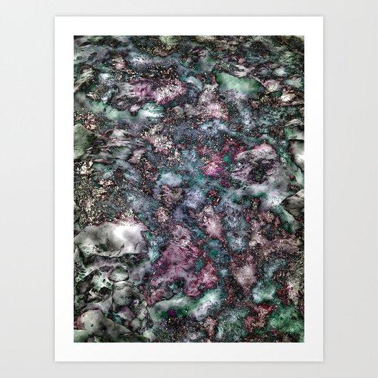 mountain creek abstract Art Print