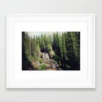 ashton irwin Framed Art Prints featuring Irwin Falls by Teal Thomsen Photography