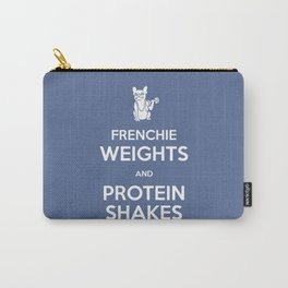 Frenchie Weights and Protein Shakes Carry-All Pouch