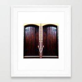 Church Doors Framed Art Print