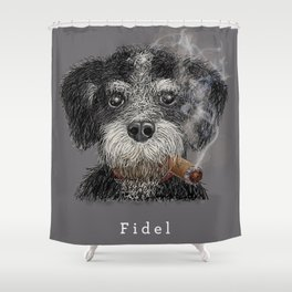 Fidel - The Havanese is the national dog of Cuba Shower Curtain