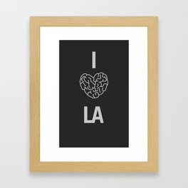 "I ""BRAIN"" LA Framed Art Print"