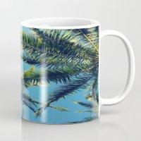 palm tree Mugs featuring Palm Tree by Jillian Stanton