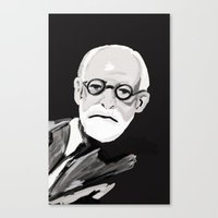 freud Canvas Prints featuring Freud  by BJD124