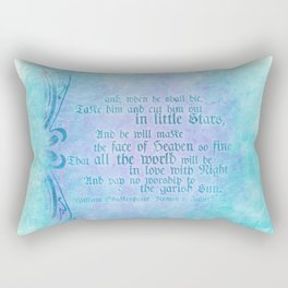 """' Take him and cut him out in little Stars"""" Romeo & Juliet - Shakespeare Love Quotes Rectangular Pillow"""