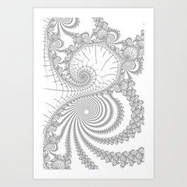 Peaks And Troughs Art Print