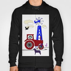 Tractor picture with dog - children's room Hoody
