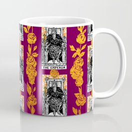Tarot The Emperor - A Floral Tarot Pattern Coffee Mug
