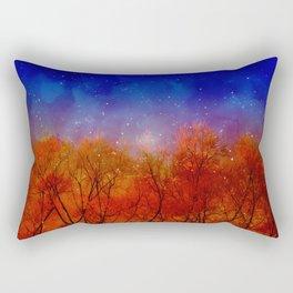 Night on fire Rectangular Pillow