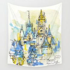 Cinderella's Castle Magic Kingdom  Wall Tapestry