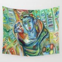apollo Wall Tapestries featuring Sario painter, Apollo and Asclepio by Sario - Rosario Annunziata
