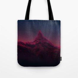 Pink mountains at night Tote Bag