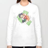 sterek Long Sleeve T-shirts featuring Bonus Sleepy Sterek Spin-Off by MGNemesi
