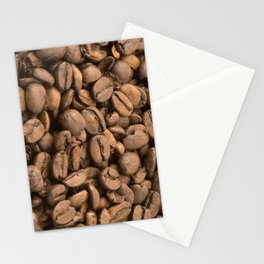 Coffee Beans Background Stationery Cards
