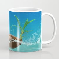 coconut wishes Mugs featuring Coconut by Azot