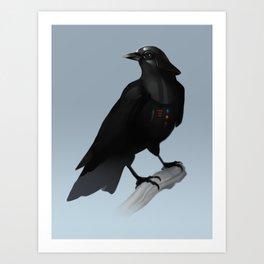 Crow Vader Art Print