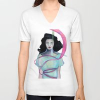 psychology V-neck T-shirts featuring Dream in the dream by sseo_story