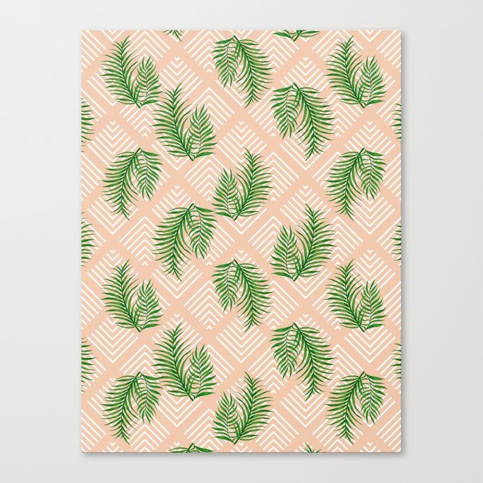 Geometries & Palms #society6 #decor #buyart Canvas Print