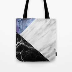 Marble Collage with Blue Tote Bag