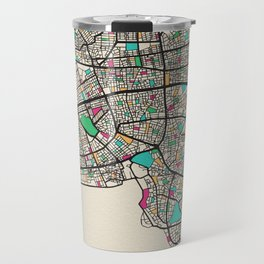 Colorful City Maps: Antalya, Turkey Travel Mug