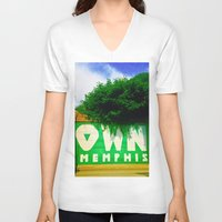 memphis V-neck T-shirts featuring OWN Memphis by John Weeden