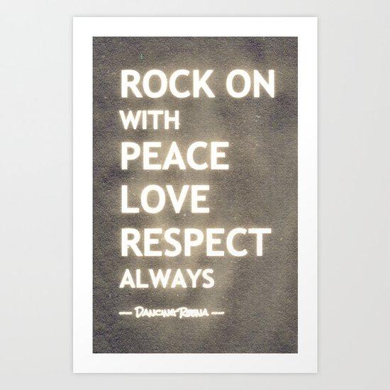 ... my life mantra ... Art Print