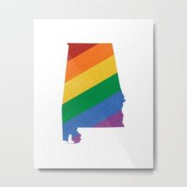 Alabama Pride Metal Print