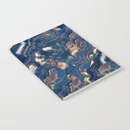Blue marble with Golden streaks Notebook
