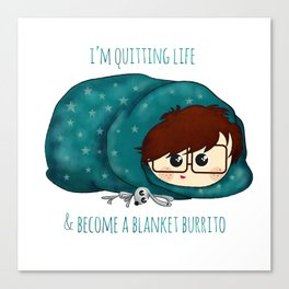 blanket burrito /Agat/ Canvas Print