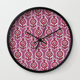 Indian lucite pink Wall Clock