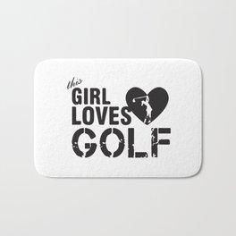 Girl Loves Golf Bath Mat