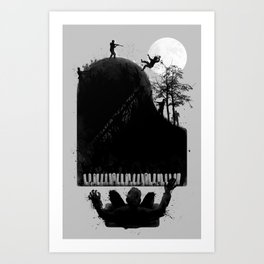 The Zombie Pianist Art Print