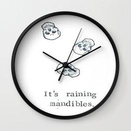 It's Raining Mandibles Wall Clock