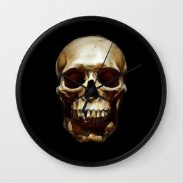 Life. Skull Painting Wall Clock