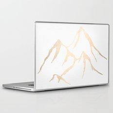 Adventure White Gold Mountains Laptop & iPad Skin