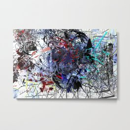 synthetic / operatic / conflagration / maelstrom (miniature) Metal Print