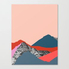 Graphic Mountains Canvas Print