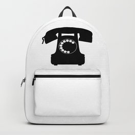 Traditional Telephone Icon Backpack
