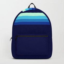 Nagayasu - Classic Maritime Blue Minimal Retro Stripes Backpack