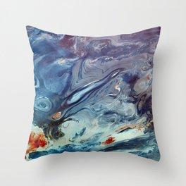 Warm liquid Throw Pillow