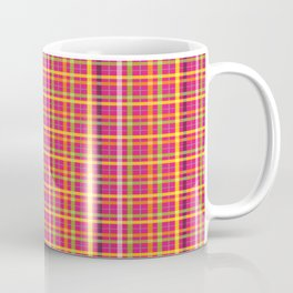 Plaid Pattern | Tartan Pattern | Multi-colored | Pink | Coffee Mug