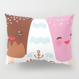 Hello Summer Kawaii ice cream, ice lolly Pillow Sham