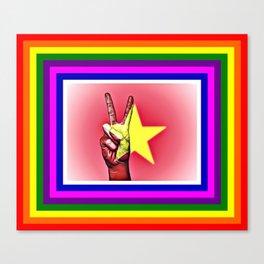 Vietnam World Peace Flag Canvas Print