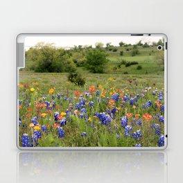 Bluebonnets, Indian Paintbrushes & Wildflowers Laptop & iPad Skin