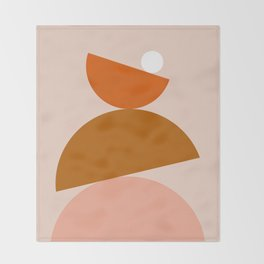 Abstraction_Color_Summer_Playful Throw Blanket
