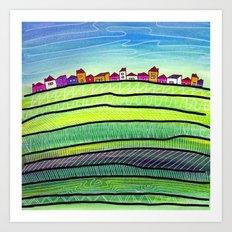 Palouse farm town Art Print